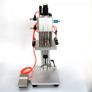 Pure pneumatic punch capping machine