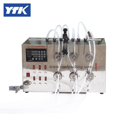 5ml to unlimited Magnetic Gear Pump Filling Machine with 6 Heads