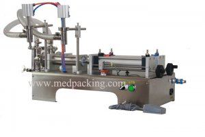 30-500ml Double Head Liquid Softdrink Pneumatic Filling Machine
