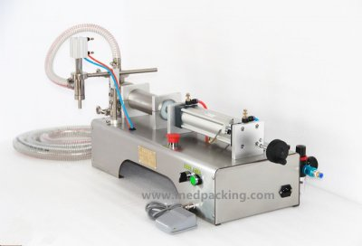 10-300ml Single Head Liquid Softdrink Pneumatic Filling Machine