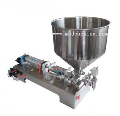 300-2500ml Single Head Cream Shampoo Pneumatic Filling Machine