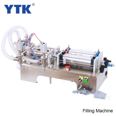 5-100ml Double Head Liquid Softdrink Pneumatic Filling Machine