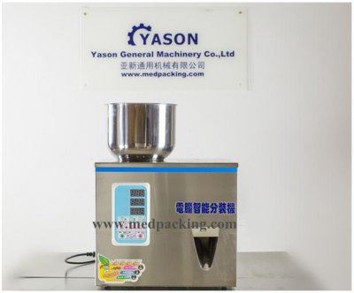2-100g Particle Filling Machine with foot pedal for Tea Bean See