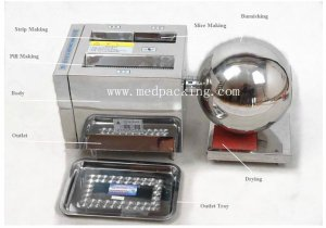 HK-88B Multi-function Pill Making Machine Pill Maker for large p