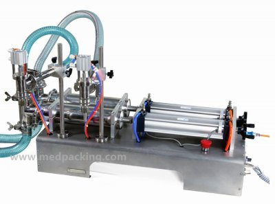 10-300ml Double Head Liquid or Softdrink Pneumatic Filling Machi